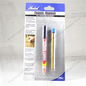 Markal retractable china marker leaves a waterproof, removable mark on all surfaces. Retractactable for full use of lead